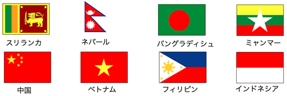 人材紹介可能国 8か国